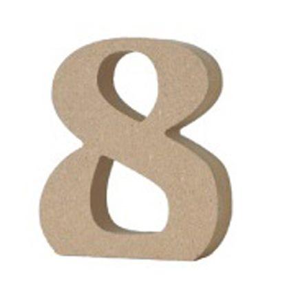 アルファベットレター 数字 8  約20×80×90mm EE1-5084