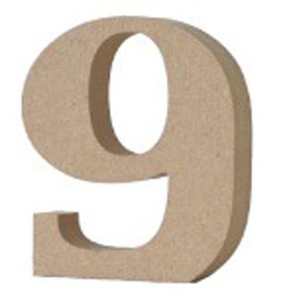 アルファベットレター 数字 9  約20×80×90mm EE1-5085