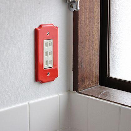 セラミックスイッチプレート03 ライトグリーン W7.5H14.5D0.7cm 002092