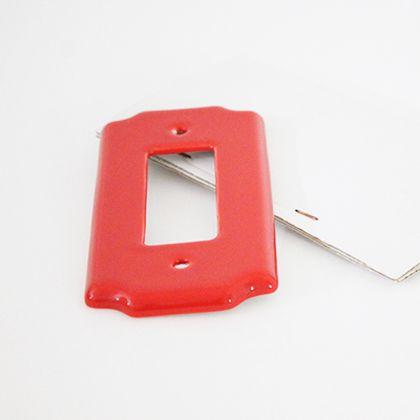 セラミックスイッチプレートワイド ネイビー W7.5H14.5D0.7cm 002094