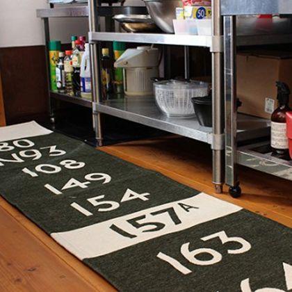 バスステーションキッチンマット グレー 50×120cm (001153)