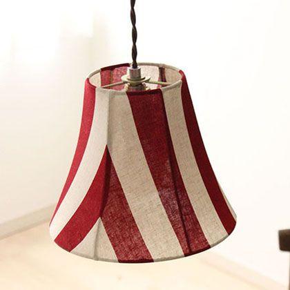 メルクロス パーティーファブリック 1灯ペンダントランプ コーデュロイ 電球なし ベージュ 直径23.5H18.5 001782