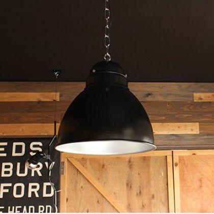 インダストリアル1灯ペンダントライト ブラック 直径28H26cm (001874)