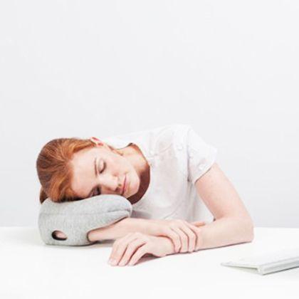 メルクロス オーストリッチ・ピロー ミニ(お昼寝用携帯枕) ブルー W16×D23×H8cm 001159