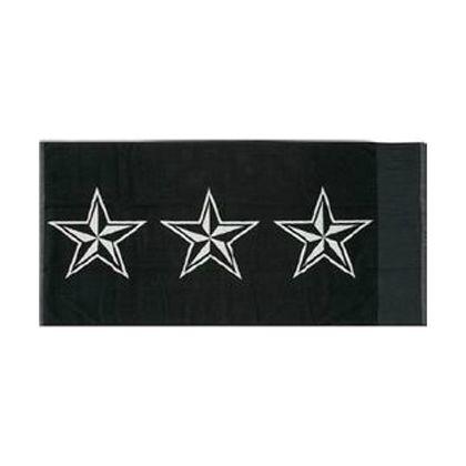 STAR TOWEL(星柄タオル) ブラック 70×140cm 1205