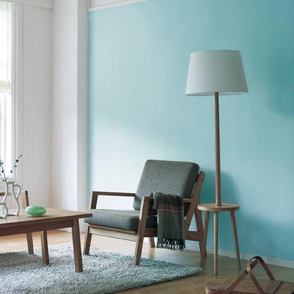 はがせる壁紙RILM 布地系無地 ブルー 幅:46cm長さ:6m rilm-wall-06m-004
