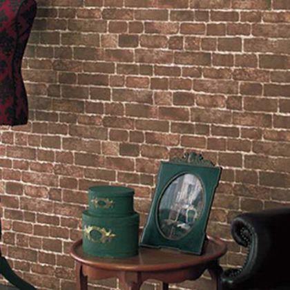 はがせる壁紙RILM ワイドタイプ ワイドレンガ ブラウン 幅:93cm長さ:6m rilm-wall-06m-508