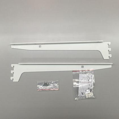 ESラック 棚板用ブラケットセット 白 奥行き400mm SA-ESBK400 左1本・右1本