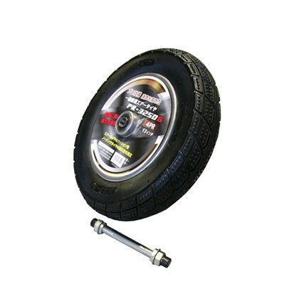 一輪車 エアータイヤ  (サイズ)車輪径:365mmタイヤ幅:76mm車軸(シャフト)長さ:170mm PR-3250G