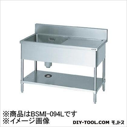 一槽水切付シンク900×450×800左側水切り(ホース付) (BSMI094L)