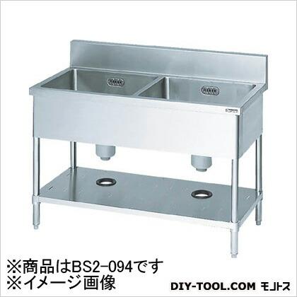 二槽シンク900×450×800(ホース付) (BS2094)