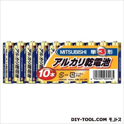三菱電機 アルカリ乾電池単3形10本パック   LR6N10S