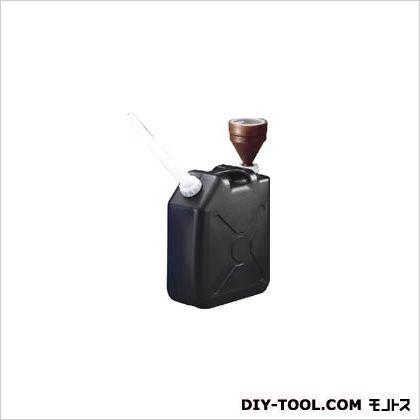 扁平缶 ポリタンク ブラック (0485)
