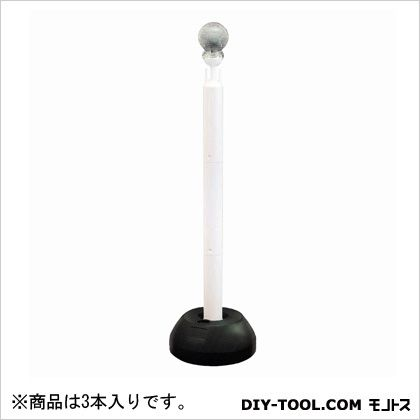 夜間自動点灯 照明器具 ソーラーチェーンスタンド ホワイト (SF-10) 3本