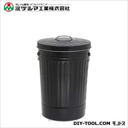 ダストBOX(キャスター付) 42C ブラック 直径355mm×高さ545mm 367-0433
