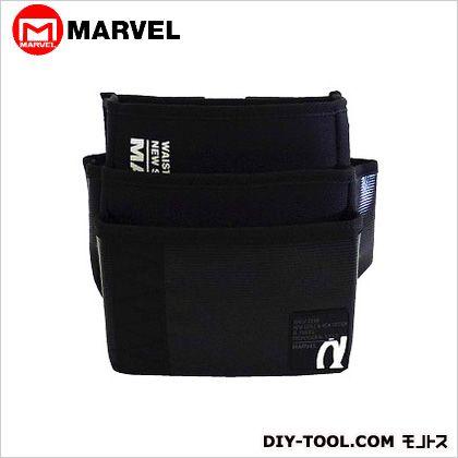 腰袋 ワイド・3段 黒  MDP-93ABKL