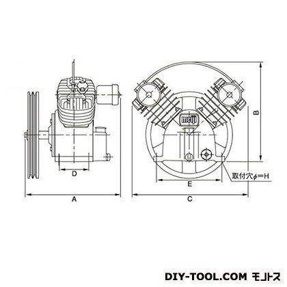 圧縮機本体  幅×奥行:500×401mm BTH-37