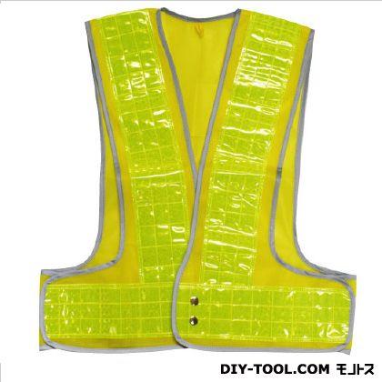 役立~ツ 安全ベスト幅90mmフチピカフラッシュ 黄/黄 フリーサイズ 5919006  枚