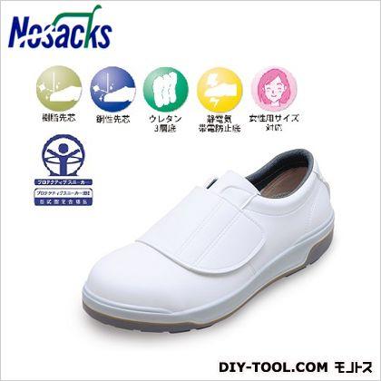 ノサックス モアフィットウレタン3層底安全靴MF3600 ホワイト 25cm (MF3600(白))