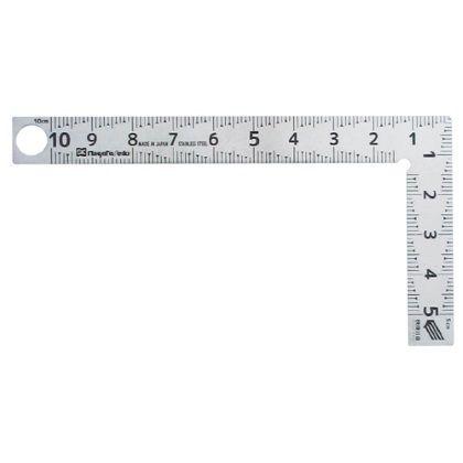 カーペンターミニ快段目盛 シルバー 全長58mm×全幅110mm×厚さ1.2mm CM-10KD