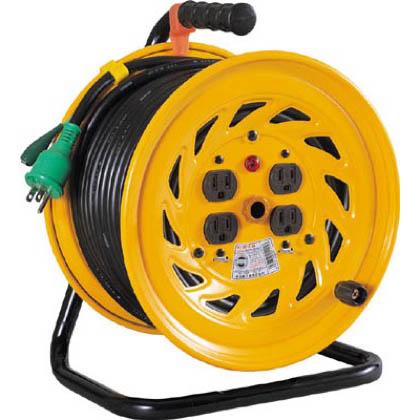 電工ドラム 標準型100Vドラム アース付 30m (×1台) (NFE34)