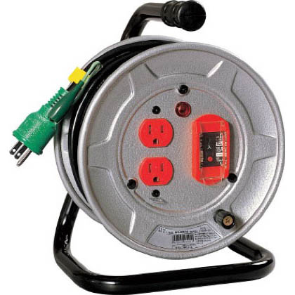 電工ドラム 標準型100Vドラム アース過負荷漏電しゃ断器付 10m (×1台) (NSEK12)