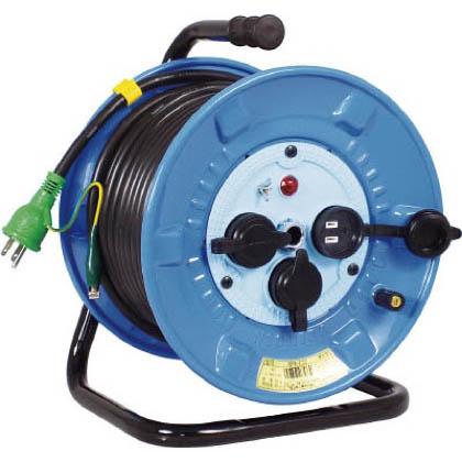 電工ドラム 防雨防塵型100Vドラム アース付 30m (×1個) (NPWE33)