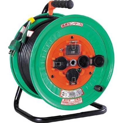 電工ドラム 防雨防塵型100Vドラム アース過負荷漏電しゃ断器付 30m (×1台)   NWEK33