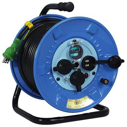 電工ドラム 防雨防塵型100Vドラム アース漏電しゃ断器付(×1台) NPW-EB33  30m NPWEB33