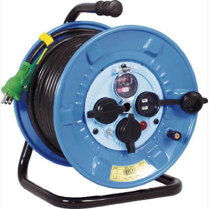 電工ドラム 防雨防塵型100Vドラム アース過負荷漏電しゃ断器 30m (×1台) (NPWEK33)