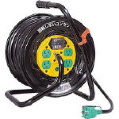 電工ドラム(電工リール・コードリール) マジックリール 100V アース漏電しゃ断器付 30m (×1台) (ZEB34)