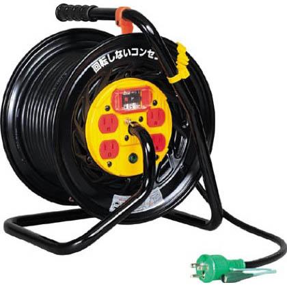 電工ドラム マジックリール 100V アース過負荷漏電しゃ断器付 30m (×1台)   ZEK34