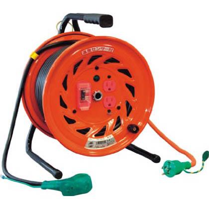 電工ドラムびっくリール100Vアース過負荷漏電しゃ断器付30m   RND-EK30S