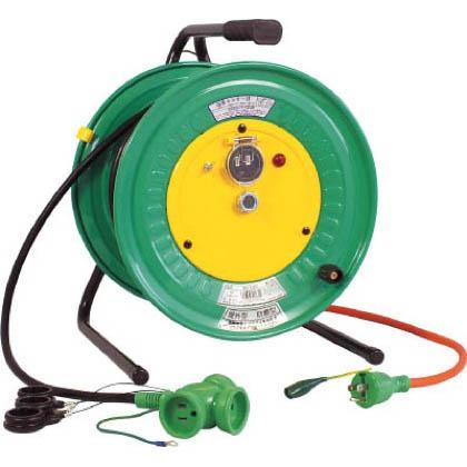 電工ドラム防雨防塵型びっくリール100Vアース付30m   RBW-E30S