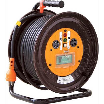 電工ドラム 三相200Vドラム アース漏電しゃ断器付(×1台)  30m NDEB33020A