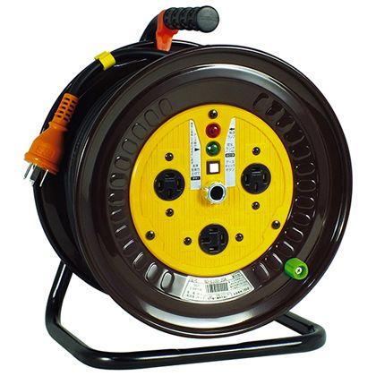 電工ドラム 三相200Vドラム アース付 30m (×1台) (NDE33020A)
