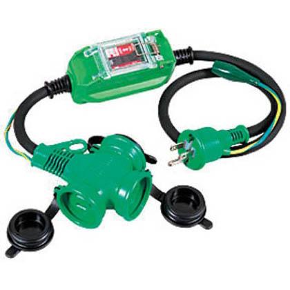 防雨型ポッキン延長ブレーカ 100V 過負荷漏電しゃ断器付 1m (×1本)   PBWEKT