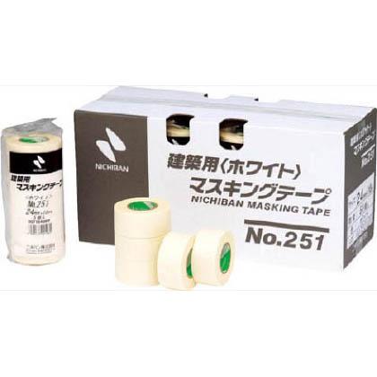 建築用マスキングテープ白251    25124 5 巻