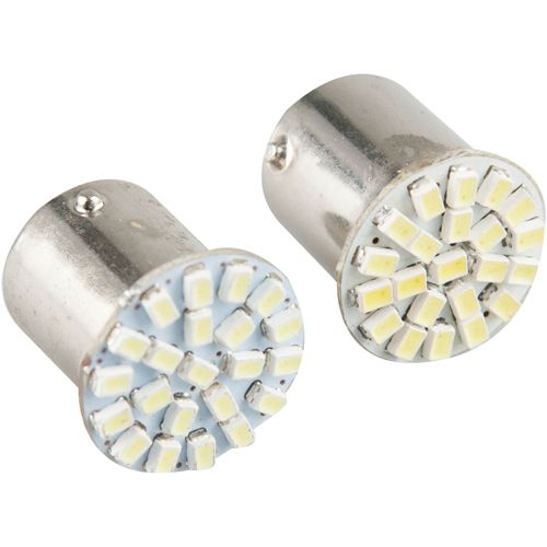 LEDバルブ 22連高輝度 G18 180度 ホワイト G18 13010379 2 個