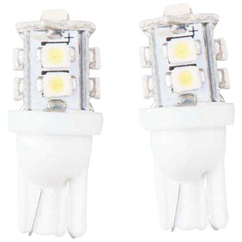 LEDバルブ 10連高輝度 ホワイト T10 13010387 2 個