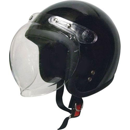スモールジェットヘルメット 回転式シールド付 ブラック フリー 79122003