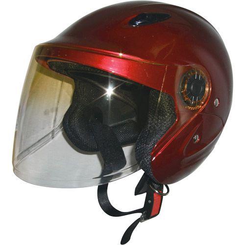 セミジェットヘルメット キャンディレッド フリー 79122017