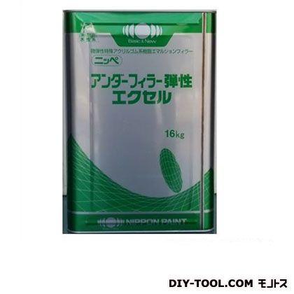 アンダーフィーラー弾性エクセル 水性ふっ素樹脂塗料 ホワイト 16kg