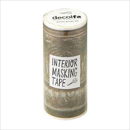 インテリアマスキングテープ フレーム/ゴールド 100mm×8m M3703