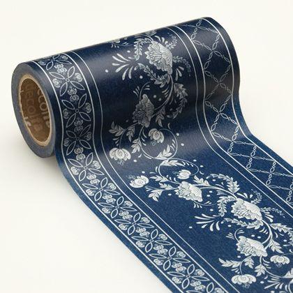 decolfa インテリアマスキングテープ シノワズリ/ブルー 100mm M3715 1 巻