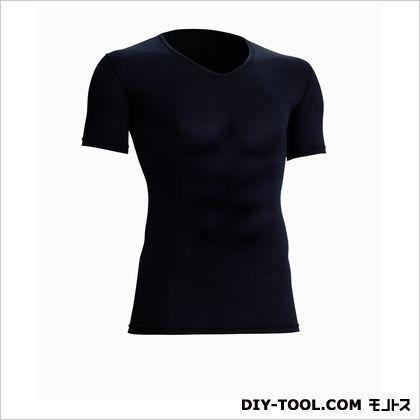 クールサポート適圧半袖Vネックシャツ 黒 S 7101-33-S