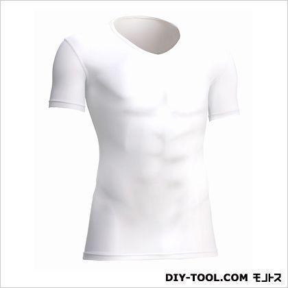 クールサポート適圧半袖Vネックシャツ 白 S 7101-62-S