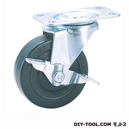 定番軽量キャスター ゴム車輪 高さ:80mm (TEL65RL S1(S 65- 65×20))