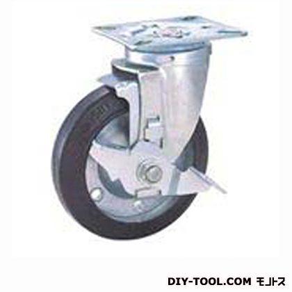 定番中軽量キャスター ゴム車輪  高さ:165mm STC125CBCS-2(C125-125×38)