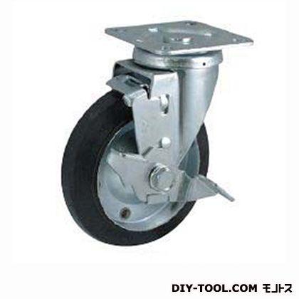 定番中軽量キャスター ゴム車輪  高さ:190mm STC150CBCS-2(C150-150×40)